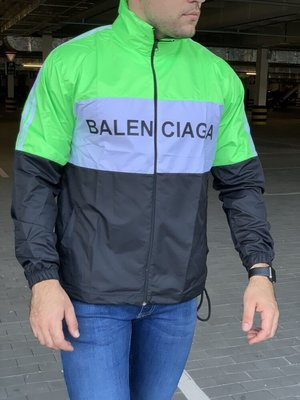 Ветровка Balenciaga Logo Reflective Zip-Up Neon Green