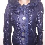 34-36р куртка зима High Italy синяя очень красивая рукав от плеча 65 плечи 42 под подмышками сперед