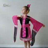 Прокат детский карнавальный костюм китаянка китаянки, японка китайский национальный костюм