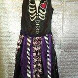 Светящийся Скелет Halloween Хэллоуин 13-14 лет Фея Привидение Карнавальный костюм