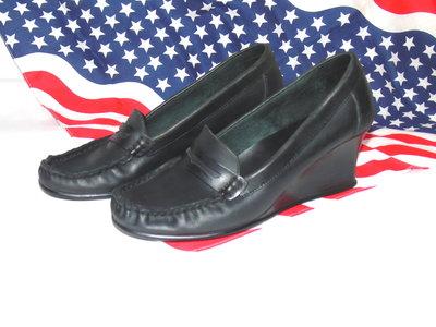 DGS SHOES Шикарные кожаные туфли - мокасины на танкетке - 37 - 38 размер