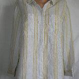 Блуза рубашка в полоску лен 20p