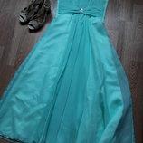 Выпускное платье на выпускной бирюза