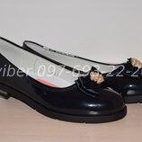 Туфли школьные на девочку синие Tom.m арт.5748-B р.32-37 туфлі сині шкільні том м