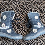 Кожаные сапоги ботинки на девочку 27
