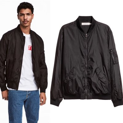 куртка бомбер мужская хс,с H&M