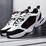 Как оригинал. Бесплатная доставка. Кожаные Nike Air Monarch IV черно-белые KS 1137
