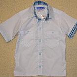 Рубашка детская, шведка для мальчиков на кнопках,хлопок. рост 122.134.146
