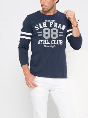 Мужской реглан синий LC Waikiki / Лс Вайкики с надписью San Fran 88 Athl.Club