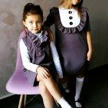 Школьное платье сарафан на девочку на 1 сентября в школу