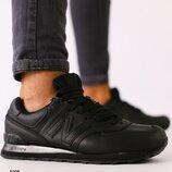 Код 5308 Мужские черные кожаные кроссовки с кожаными вставками размеры 41-46 Сезон деми Материал