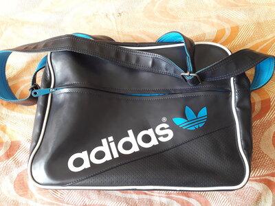 Сумка спортивная синяя фирменная Adidas