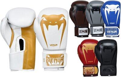 Перчатки боксерские кожаные на липучке Venum Giant 8315 10-12 унций 6 цветов