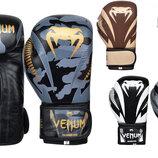 Перчатки боксерские кожаные на липучке Venum Giant 8316 10-12 унций 5 цветов
