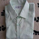 Модная Турецкая рубашка вenat р.152, нежно-салатовая, скидка