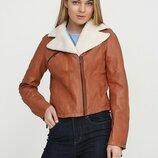 Стильная женская куртка косуха мягкая натуральная кожа