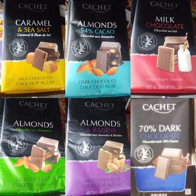 Бельгийский шоколад Cachet Кашет 300g - шоколад cachet32% milk chokolate bar withcaramel&sea salt
