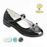 Туфли на девочку Том.м школьные для школы tom.m черные