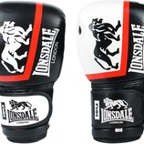 Перчатки боксерские кожаные на липучке Lonsdale Xpeed 8340 10-12 унций 2 цвета