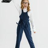 Комбинезон школьный на девочку. Модная школьная форма. 128-158см