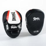 Лапа изогнутая кожаная боксерская Lonsdale Xpeed 8342 2 лапы в комплекте, размер 24x19x5см