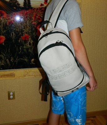 Рюкзак мужской светло-серый под кожу большой Under Armour новый.