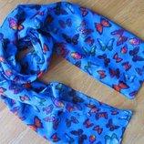 Легкий шарфик яркой расцветки Подарок к любой детской вещи