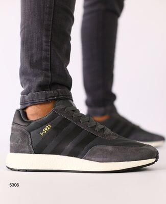 Кроссовки мужские, натуральная замша, темно - серые с черными вставками