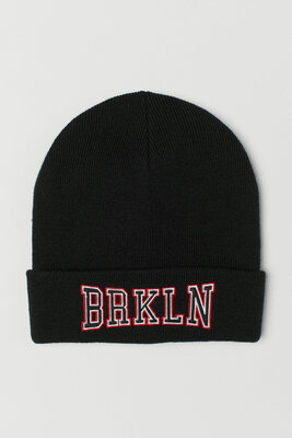 Демисезонная двойная шапка для мальчика H&M, размер 92-104, 110-128