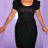 Черное эластичное платье New Look