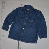 Стильная джинсовая рубашка на кнопках H&M на 12-18 мес.
