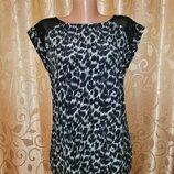 Красивая женская легкая майка, блузка в леопардовый принт f&f