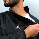 Мужская ветровка Анорак Jordan черный, Турция