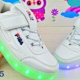 кроссовки светящиеся с зарядкой фабрика-7