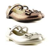 Праздничные туфли для девочки серебро,бронза Clibee, 309088,309087, 31-36 р., 019
