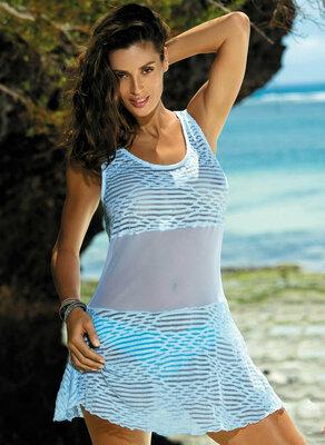 Пляжная туника платье 414 от Marko Польша Оранж, голубой