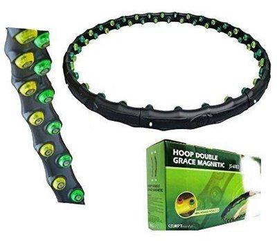 Обруч магнитный профессиональный MS 0455 98 см, 8 частей, 64 массажных мячи