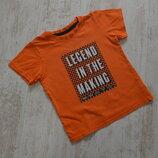 Оранжевая футболка на 2-3 года