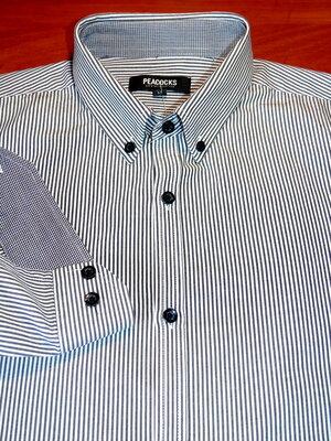 PEACOCKS Шикарная рубашка в полоску - S - M