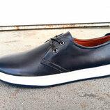Кроссовки кеды мужские кожаные синие 40 -45 р-р