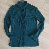 Смарагдова блуза bershka розмір М