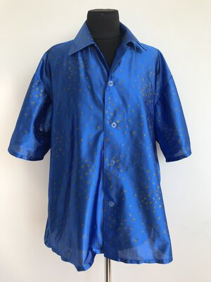 Ретро Диско Хиппи 80х 70х 90х рубашка карнавальный костюм