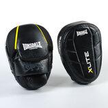 Лапа изогнутая кожаная боксерская Lonsdale Xlite 8339 2 лапы в комплекте, размер 23x18x5см