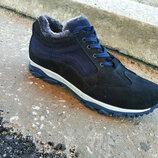 Мужские замшевые зимние ботинки больших размеров 46-50 р-р