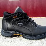 Мужские кожаные зимние ботинки Ессо
