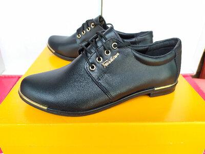 Женские кожаные туфли на низком ходу. мод. 100 Днепр.