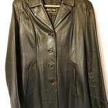 Женская кожаная куртка, женский кожаный пиджак М-L наш 46-48 кожа куртка-жакет