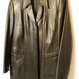 Женское кожаное пальто женский кожаный пиджак женская кожаная куртка, XL-2XL наш 50-52 кожа тренч