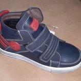 Утепленные ботинки на мальчика 31-34 р Bessky, синие, флисе, осенние, весенние, хлопчик, демисезон