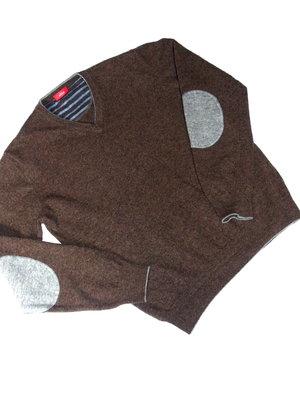 Шикарный шерстяной джемпер с подлокотниками - S - M